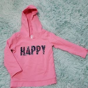 Pink pull over with hood